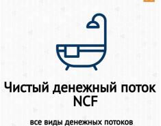 Чистый денежный поток (Net Cash Flow, NCF). Виды денежных потоков