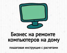Бизнес на ремонте компьютеров на дому: бизнес-план, доходность, затраты