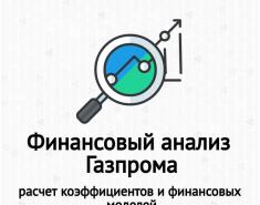 Финансовый анализ Газпрома. Расчет коэффициентов ликвидности и рентабельности