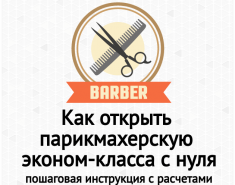 Как открыть парикмахерскую эконом-класса с нуля быстро + бизнес план с расчетами