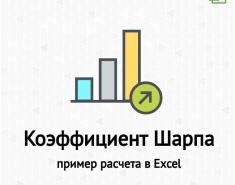 Коэффициент Шарпа. Формула расчета. Пример в Excel