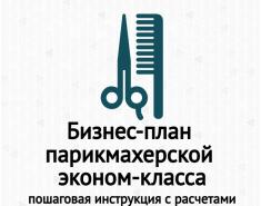 Бизнес-план парикмахерской эконом-класса с расчетами: рентабельность