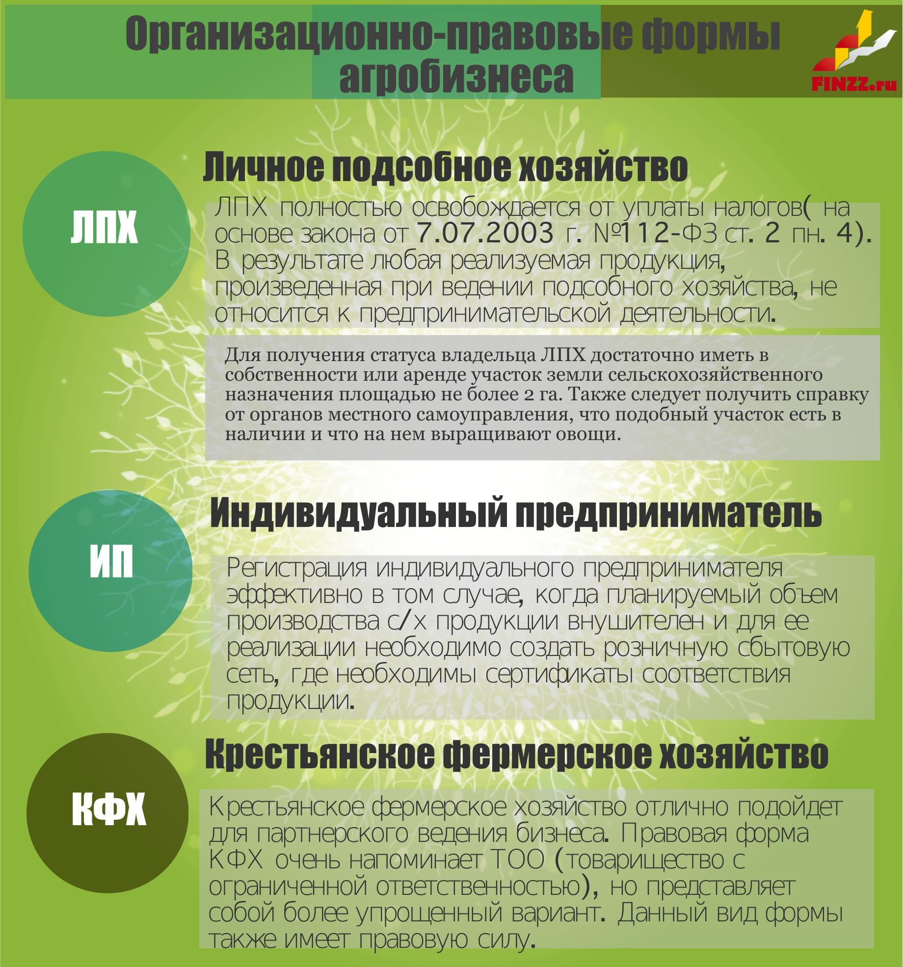 Как открыть фермерское хозяйство (КФХ) с нуля. Формы агробизнеса ЛПХ, ИП