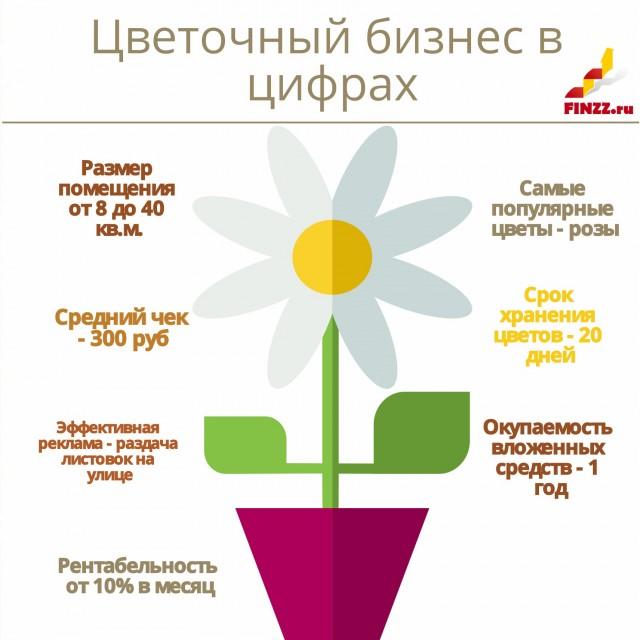 Цветочный магазин в цифрах (рентабельность, окупаемость, средний чек)
