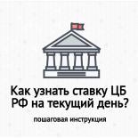 Какая ставка рефинансирования ЦБ РФ на сегодня?