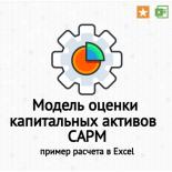 Модель оценки капитальных активов – CAPM (У. Шарпа) в Excel