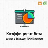 Коэффициент бета. Формула. Расчет в Excel для ОАО «Газпром». Современные модификации