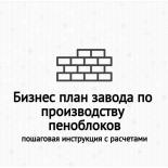 Бизнес план завода по производству пеноблоков с нуля в домашних условиях