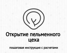 Открытие пельменного цеха пошаговая инструкция