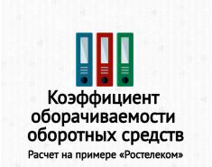 Коэффициент оборачиваемости оборотных средств (активов). Расчет на примере ОАО «Ростелеком»