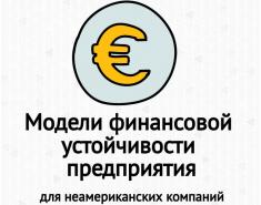 Модели финансовой устойчивости предприятий