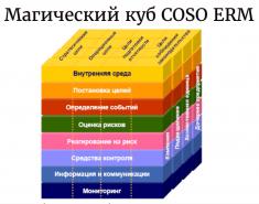 Кратко о модели COSO внутреннего контроля. Пример
