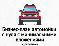 Бизнес-план автомойки с нуля с минимальными вложениями