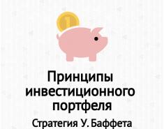 Принципы инвестиционного портфеля. Диверсификация. Стратегия У. Баффета