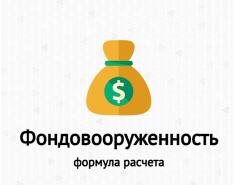 Фондовооруженность. Формула по балансу