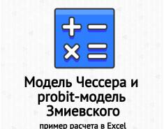 Модель Чессера и probit-модель Змиевского. Пример расчета в Excel