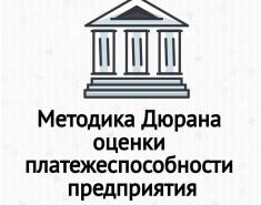 Оценка платежеспособности предприятия (метод Дюрана)