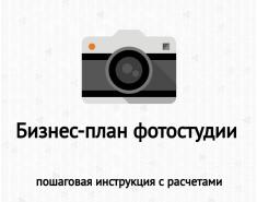 Бизнес-план фотостудии с расчетами: образец, доходы, расходы