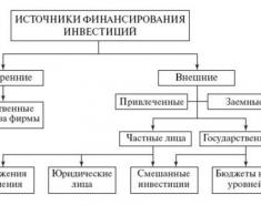 Источники финансирования инвестиций в основной капитал (методы)