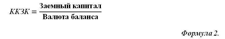 Коэффициент концентрации заемного капитала. Норматив. Вывод