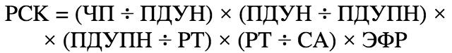 Факторный анализ рентабельности собственного капитала. Пример. Расчет.