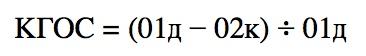 Коэффициент годности основных средств. Формула расчета