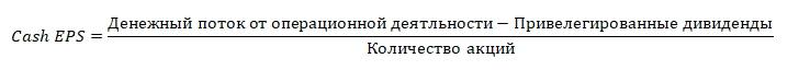 Денежный EPS. Формула