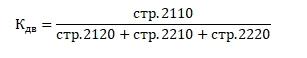 Коэффициент достаточности выручки для покрытия расходов по текущей деятельности. Расчет по балансу (строки)